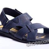 Кожаные сандалии, босоножки, шлепанцы Timberland T - 2 синие