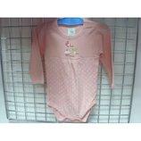Боди детский для новорожденных розовый 0-18 мес.