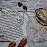 9 - 12 месяцев 80 см очень модная фирменная рубашка для мальчика Rebel Рейбел
