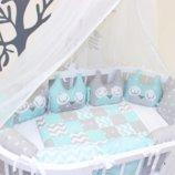 IngVart Домики и совы постельный набор в овальную кровать