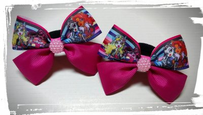 Бантики бант заколка для волос резинки Monster High, Ever, Winx Монстер Хай, Эвер Афтер Хай, Винкс