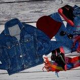 8 лет 128 см Обалденный Фирменный Пиджак джинсовая курточка куртка гоп стаил