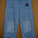 Голубые Джинсы человек-паук на мальчика - 104 см