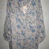 Стильная брендовая легкая блуза в цветочный принт Driver.