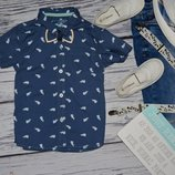 3 - 4 года 104 см очень модная фирменная рубашка тенниска для мальчика с принтом киты Rebel Рейбел