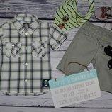 1 - 2 года 86 см H&M очень модная фирменная рубашка тенниска для мальчика клетка