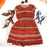 Платье коричневое TU для девочки 10-12 лет, 140-146 см