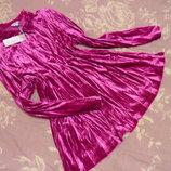 Шикарная бархатная жатая блуза.