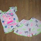 Пижамка с юбкой-шорты Минни и Пеппа