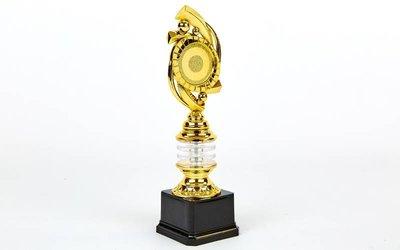 Награда спортивная приз спортивный с местом под жетон YK-137C, золото пластик, высота 29см
