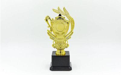 Награда спортивная приз спортивный с местом под жетон YK317, золото пластик, высота 21см