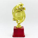 Награда спортивная приз спортивный с местом под жетон YK122C, золото пластик, высота 20,5см