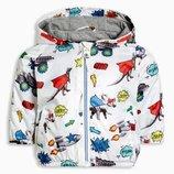 Куртка с разноцветным принтом динозавров 3 мес.-6 лет