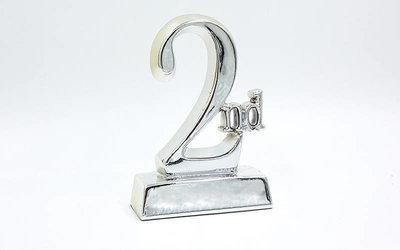 Награда спортивная 2-ое место статуэтка наградная C-1698-C3 14х9х4,5см