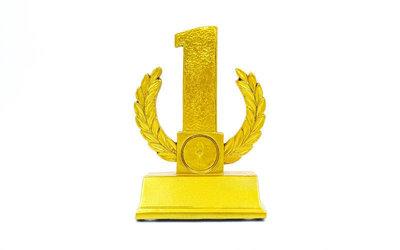 Награда спортивная 1-ое место Лавровая Ветвь статуэтка наградная C-2784-C5 13,5х9х5см