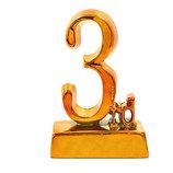 Награда спортивная 3-е место статуэтка наградная C-1699-C4 14х9х4,5см