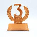 Награда спортивная 3-е место Лавровая Ветвь статуэтка наградная C-2393-C9 11,5х9х5см