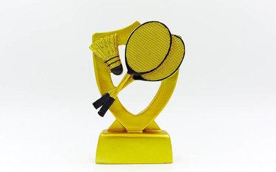 Награда спортивная Бадминтон статуэтка наградная C-1289-B5 16х11х3,5см