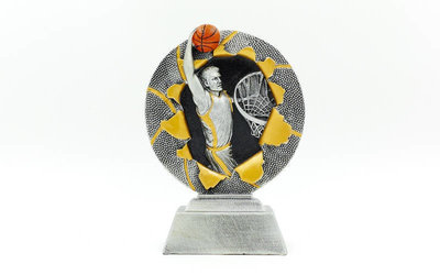 Награда спортивная Баскетбол статуэтка наградная C-4793-C1 17х12х4см
