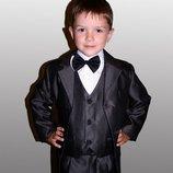 Школьная форма для мальчика черная 116-146