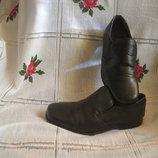 Туфли черного цвета,100%кожа next
