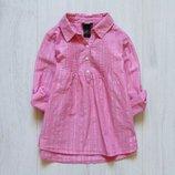 Стильная рубашка-туника для девочки. H&M. Размер 2-3 года. Состояние новой вещи