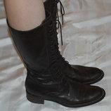 Чоботи черевики шкіра розмір 40, сапоги кожа