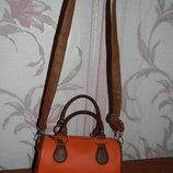 Мега стильная оранжевая сумка бочонок Atmosphere