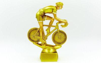 Награда спортивная Велоспорт статуэтка наградная велосипедист C-4600-B5 20х5х6см