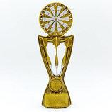 Награда спортивная Дартс статуэтка наградная дартс C-3338-B 22,5х9х4см