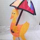 дет.ветрянная вертушка утенок с зонтом