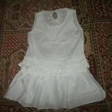 блузка туника с вставками гипюра