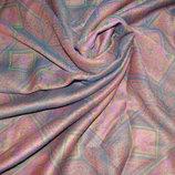 коллекционный платок Западная Германия шерсть винтаж раритет 114Х117 см
