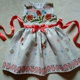 Нарядное платье в украинском стиле