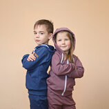 Детская спортивная кофта на молнии с капюшоном трикотажная из двунитки/детская олимпийка/подрасткова