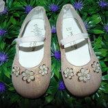 Нарядные балетки Monsoon 21р,ст 13,5 см.Мега выбор обуви и одежды