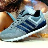 Мужские кроссовки Adidas Neo св.серый 41р-46р