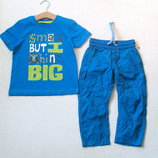 Летние тонкие яркие брюки для мальчика 2-3 лет