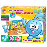 Игра с липучками Обучарики. Где чей домик смешарики VT2307-02 Vladi toys