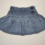 Стильная джинсовая юбочка Next на девочку 6 лет.
