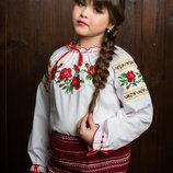 Красивая вышиванка на девочку недорого