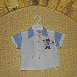 Летний костюмчик трусики и рубашка на малыша 0-6 мес. в морском стиле