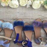 Распродажа Натуральные женские босоножки сандалии с натуральной норкой 34,35,36,37,38,39,40,41,42