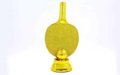 Награда спортивная Пинг Понг статуэтка наградная ракетка для пинг понга C-1341-A2 25х12х7,5см