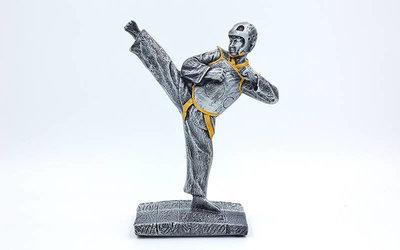 Награда спортивная Таеквондо статуэтка наградная таеквондист C-1501-B1 19х15х8см