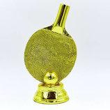 Награда спортивная Пинг Понг статуэтка наградная ракетка для пинг понга С-1341-B2 18х11х7см