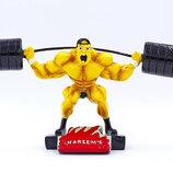 Награда спортивная Тяжелая атлетика статуэтка наградная штангист C-2248-A8 14х30х8см