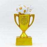 Награда спортивная Футбол статуэтка наградная кубок и бутса с мячем C-4664-B16 16х8х4,5см