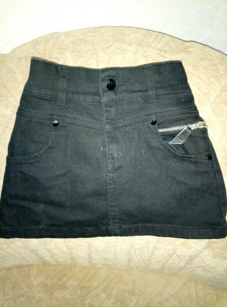 Юбка для девочки джинсовая 137
