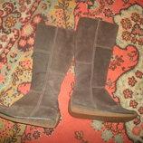 сапоги ботинки замша